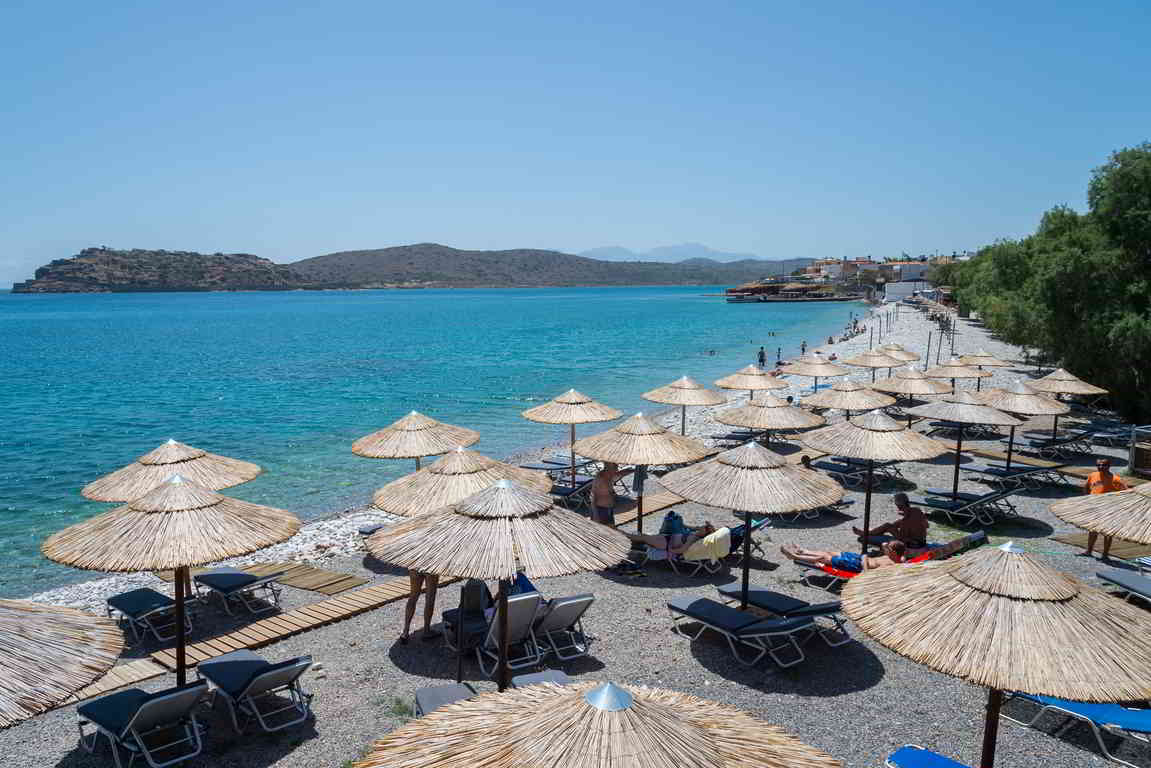 Plaka Elounda beach, Agios Nikolaos, Crete
